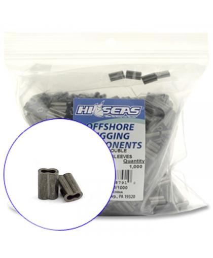 Трубочки обжимні Hi-Seas Mini Double Barrel Copper Sleeves 0,8 mm #E- 10 шт.