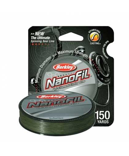 Шнур Berkley NanoFil 125 m 0,22 mm #Low-Vis Green