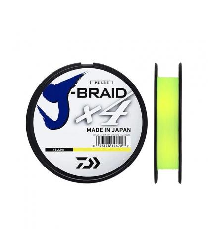 Шнур Daiwa J-Braid X4E 0,33 mm 135 m #Yellow