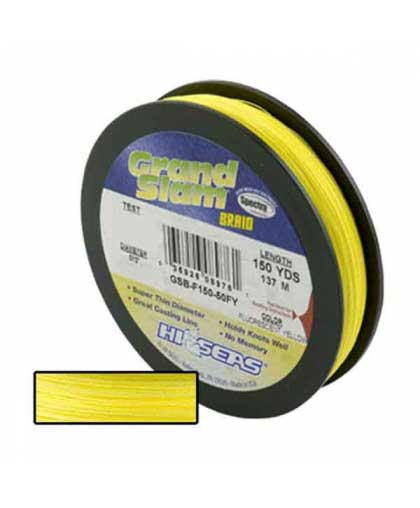 HI-SEAS Grand Slam Braid 134 m 0,10 mm #Fluorescent Yellow