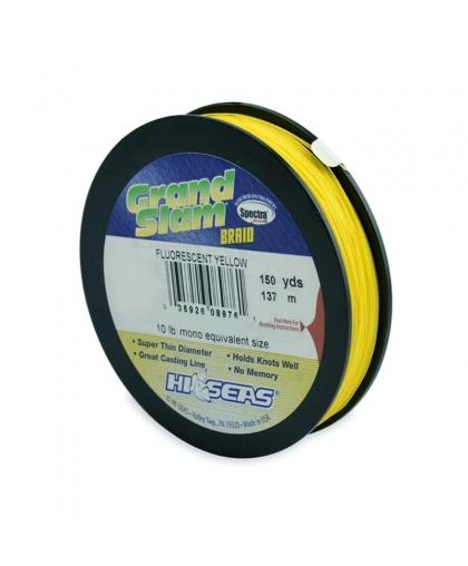 Шнур HI-SEAS Grand Slam Braid 10LB 0,10 mm  137 m #Fluorescent Yellow