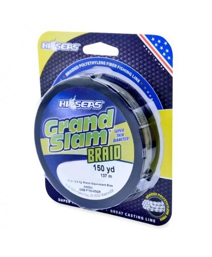 Шнур HI-SEAS Grand Slam Braid 50LB 0,30 mm 137 m #Green