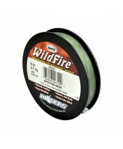 HI-SEAS WildFire Braid 114m 6LB #Green (Discounted!)