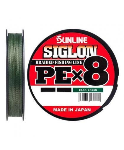 Шнур Sunline Siglon PEx8 50lb 0,296 mm 150 m #Dark Green