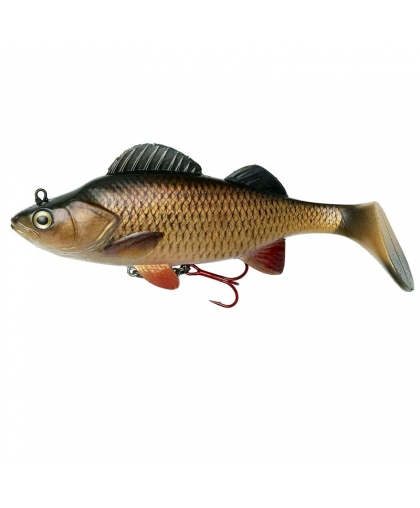 DAM Effzett Natural Perch Paddle Tail 140 mm #Chub