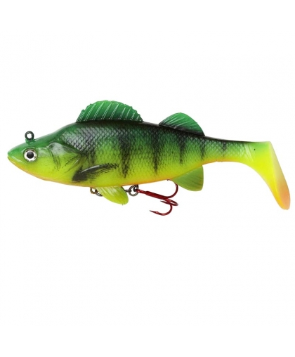 DAM Effzett Natural Perch Paddle Tail 140 mm #Fire Perch