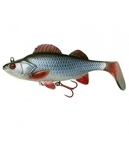 DAM Effzett Natural Perch Paddle Tail 140 mm #Roach