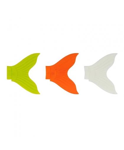Набор сменный хвостов Strike Pro X-Buster EG-051T #Chartreuse/Orange/Glow