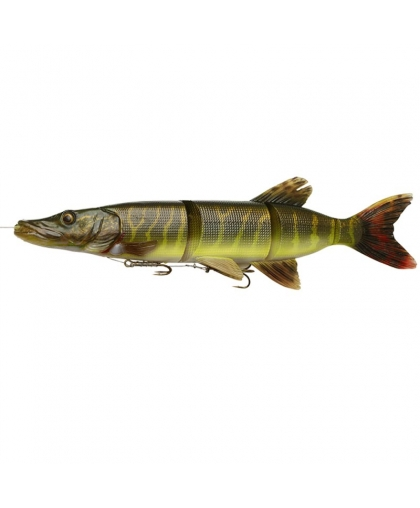 Виброхвост Savage Gear 4D Line Thru Pike 25cm 01-Striped Pike