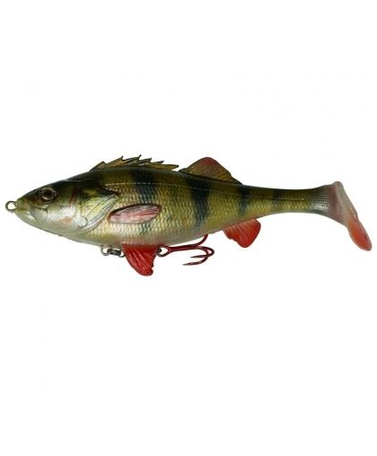 Виброхвост Savage Gear 4D Perch Shad 17,5cm 01-Perch