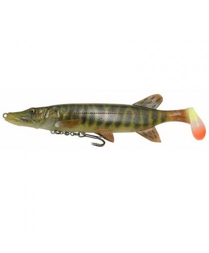 Виброхвост Savage Gear 4D Pike Shad 20cm #01-Striped Pike